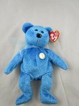 "Ty Beanie Baby Plush Classy Blue Bear 8"" 2001 Stuffed Animal Toy - $4.95"