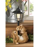 MOM and BABY RABBIT Solar Garden Lamp Path Light Outdoor Decor  - $32.20