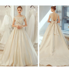 Backless w/ Train Illusion Bride Gowns Lace Wedding Dress Vestidos De No... - $320.00