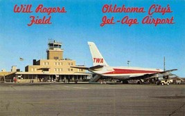 Will Rogers Field TWA Jet Aircraft Plane Oklahoma City OK postcard - $6.44