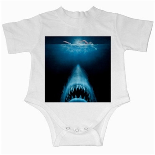 Primary image for Jaws shark infants baby creeper bodysuit romper newborn jumpsuit