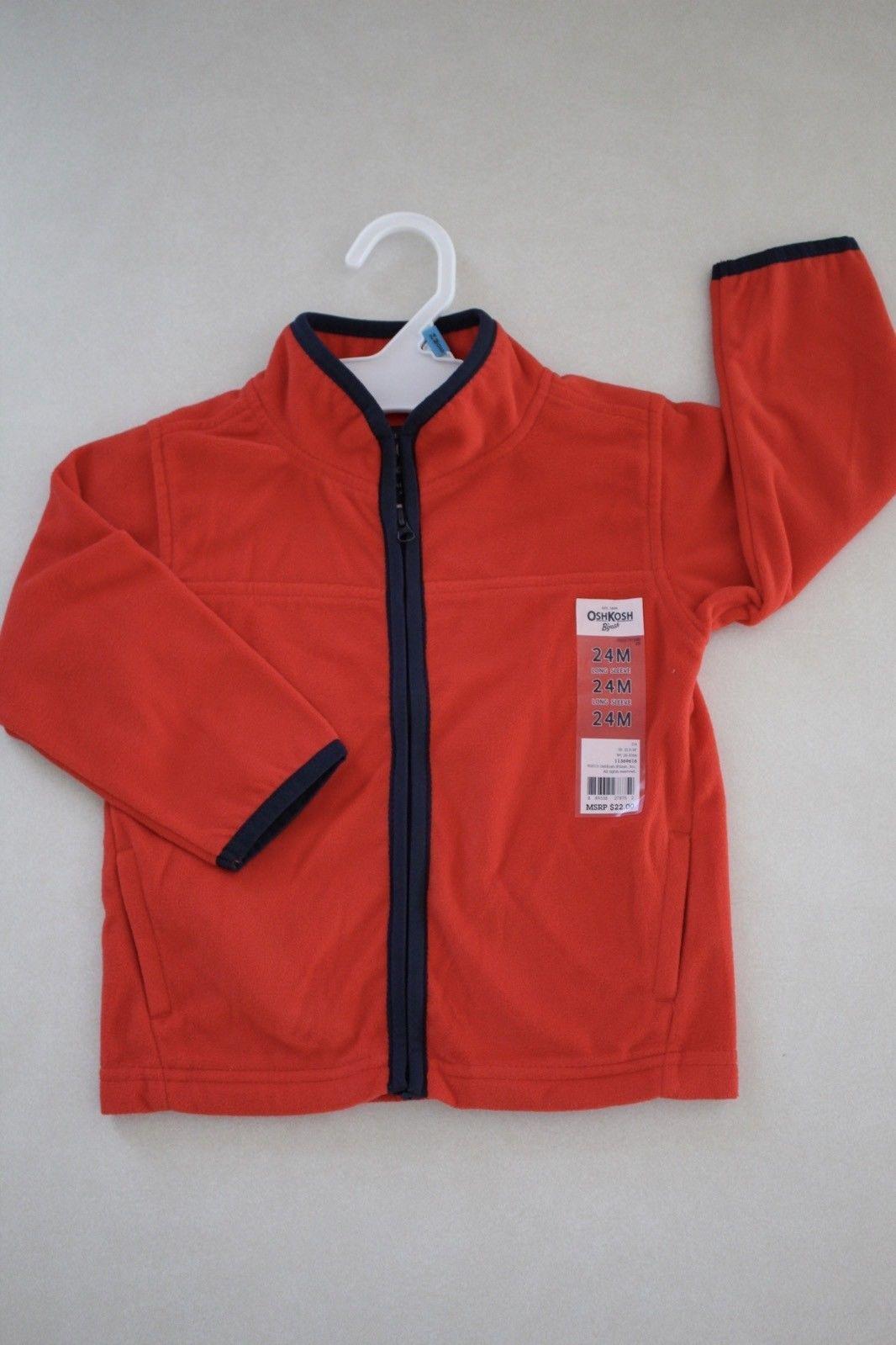 OshKosh B'gosh Toddler Boy's Fleece Jacket size 24M New - $9.89