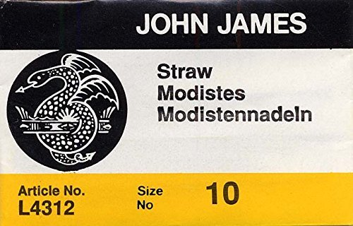 Colonial Needle 25 Count John James Milliners/Straw Uncarded Needles, Size 10 (L - $7.59