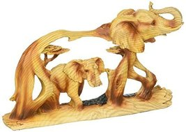 StealStreet SS-UG-MMD-186, 8 Inch Elephant in The Wild Woodlike Bust Scene Carvi - $32.99