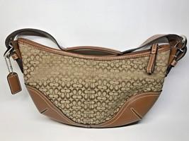 Authentic COACH signature ladies Hand/Shoulder bag canvas brown d3j6351 - $79.20
