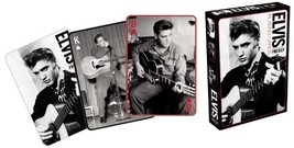 Aquarius Elvis Black And White Playing Cards - $9.33