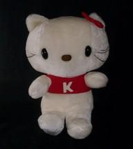 "18"" Big Vintage 1983 Sanrio Hello Kitty Red K Shirt Stuffed Animal Plush Toy - $55.17"