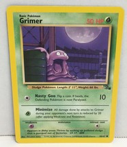 1999 Grimer Pokemon Card 48/62 TCG Wizards of the Coast Fossil Set NM Great Con - $2.16