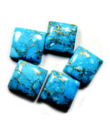 5 PCS 15X15 MM Natural Copper Turquoise Lot Square Cabochon Gemstone For... - €56,53 EUR