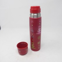 STARBUCKS 2006 17oz Red Collectible Christmas Tree Holiday Metal Pylones Thermos - $17.77