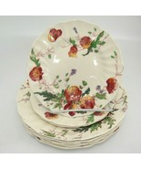 Vintage Royal Doulton Sherborne Lot of 3 Bread & 5 Salad Plates Scallope... - $19.79