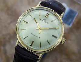 Movado 14K Solid Gold King Matic Swiss Men's Automatic Dress Watch c1960 GP9 - $2,223.99