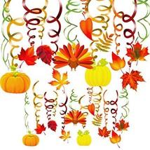 40 Pack Thanksgiving Hanging Swirls Decorations Autumn Swirls Ceiling St... - $12.35