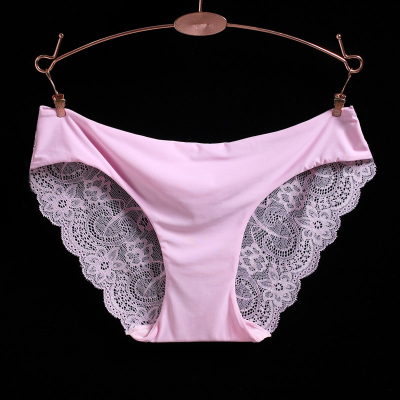 Free Shipping NEW Women's Sexy Lace Panties Seamless Cotton Breathable Panty