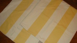 Pottery Barn 2 Classic Stripe Marigold Yellow & Ivory Zippered Pillow Co... - $34.62