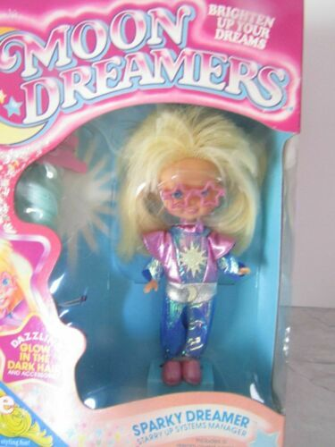 Primary image for 1986 VINTAGE HASBRO MOON DREAMERS SPARKY DOLL AND ACCESSORIES MNRFB !!