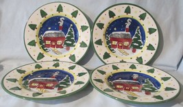 Insprado IDC Christmas Cabin Salad Plate set of 4 - $27.61
