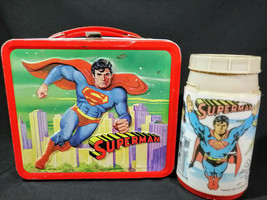 Vintage 1978 Superman Lunchbox And Thermos Very Nice Condition - $79.15