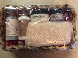 The Body Shop Cocoa Butter & Africa Spa Gift Set Basket Rare  - $39.99