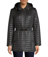 Kate Spade New York Quilt Tortoise Bow Hooded Jacket  XS $328.00 - $229.99