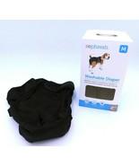 SoPhresh Dog Animal Diaper Medium 15-35 lb Black Washable  - $9.99