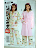 GirlsTeen Bathrobe PJ's Pajamas Housecoat Size 12-14-16 Girl's See & Sew... - $10.00