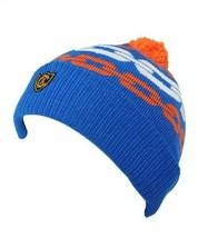 Crooks & Castles Royal Orange Bleu Hommes Chainlink Pom Bonnet Chapeau Hiver Ski