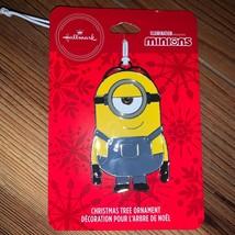 Hallmark Despicable Me Minion Stuart Christmas Tree Holiday Ornament Met... - $12.00