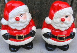 Fitz and Floyd Santa Candle Holder Pair - £13.81 GBP