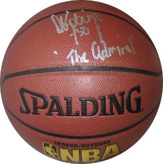 David Robinson signed NBA Indoor/Outdoor Basketball The Admiral- Beckett Hologra