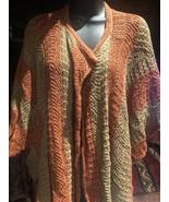 Vintage Crochet Cocoon Sweater Brown Rust Cotton - $63.24