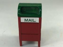 Christmas Village Red & Green Metal Miniature Mailbox Dioramas Dollhouses - $8.90