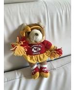 Kansas City Chiefs Cheerleader Plush Bear NFL Doll - $19.99