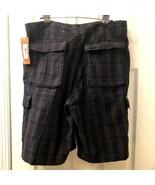 Lee Dungarees Men's Navy Blue Plaid Cargo Shorts Sz 36 NWT 100% Cotton R... - $24.98