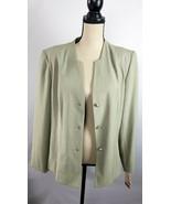 Dressbarn Women's Forma Blazer Size 14 light Green Fully Lined 3-button ... - $19.80