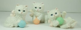 HOMCO White Cats with Yarn Figurines Home Interior set of 3 - $19.99