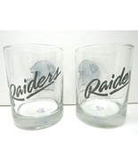 2 VTG Los Angeles Raiders Clear Whiskey Rocks Glasses NFL Licensed Papel... - $26.30