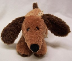 "Carter's CUTE SOFT BROWN PUPPY DOG RATTLE 6"" BABY Plush STUFFED ANIMAL Toy - $14.85"
