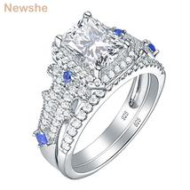 Classic Bridal Set Wedding Engagement Rings For Women 925 Sterling silver Prince