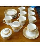 Mikasa Ultima Bamboo Grove 18 Piece Set Cups Saucers Creamer Sugar Bowl Lid - $89.09