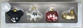 Disney Parks Mickey Mouse Body Parts Set of 4 Glass Christmas Ornaments ... - $29.95