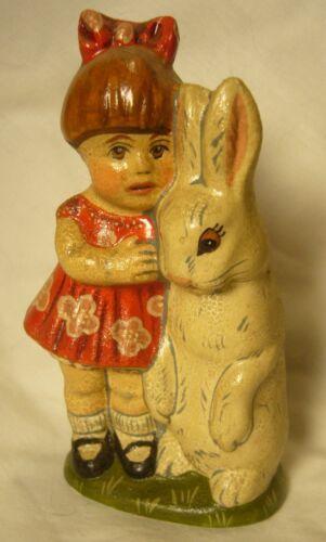 Vaillancourt Folk Art Alice with Rabbit Studio Edition