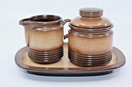 Winterling Pfalzkeramik Sahara Brown Creamer Sugar Bowl Lid Plate Set Ge... - $55.01