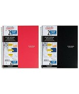 """Mead FiveStar 11"""" X 8-1/2"""" College Ruled 2 Subject Notebook Assorted Color - $10.99"""