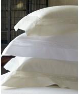 Sferra GIZA 45 Lace Insert Percale King Sham Ivory Egyptian Cotton Italy... - $270.00