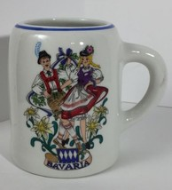 Vtg Bavaria Reutter Porzellan West Germany Dancers Handled Mug Small Bee... - $16.61