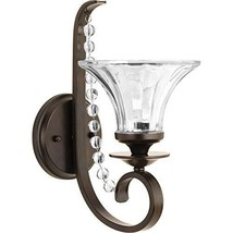 Progress Lighting Bliss 1-Light 6.75-in Antique Bronze Bell Vanity Light - $63.80