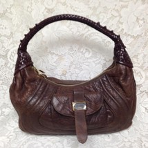 Authentic Fendi, Italy, Brown Leather Spy Purse Handbag, 15in x 9in x 4in - $189.95