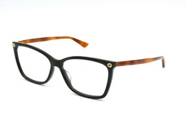 Gucci GG0025O Women's Eyeglasses Frame, 003 Black / Havana. 56-14-140 #R32 - $98.95