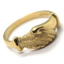Gelbgold Ring 750 18K, Santa Rita, Handcreme, Poliert und Matt, Italien Made image 4